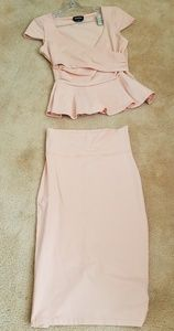 NWOT Bebe top and skirt